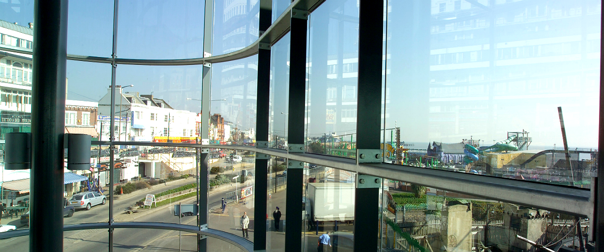Curved Glazing - Southend Pier 1